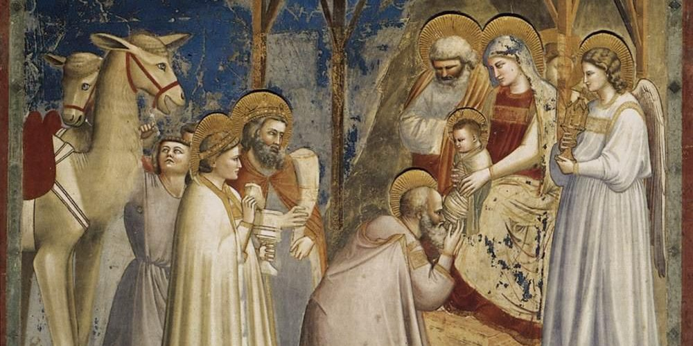 Giotto Di Bondone No. 18 Scenes From The Life Of Christ 2. Adoration Of The Magi WGA09195