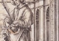 St Stephen Design For A Stained Glass Window By Hans Holbein The Younger 691x1024